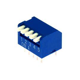 DIP switch Kaifeng KF1002-05PG-BLUE