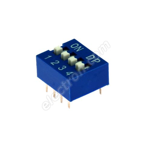 DIP switch Kaifeng KF1001-04PG-BLUE