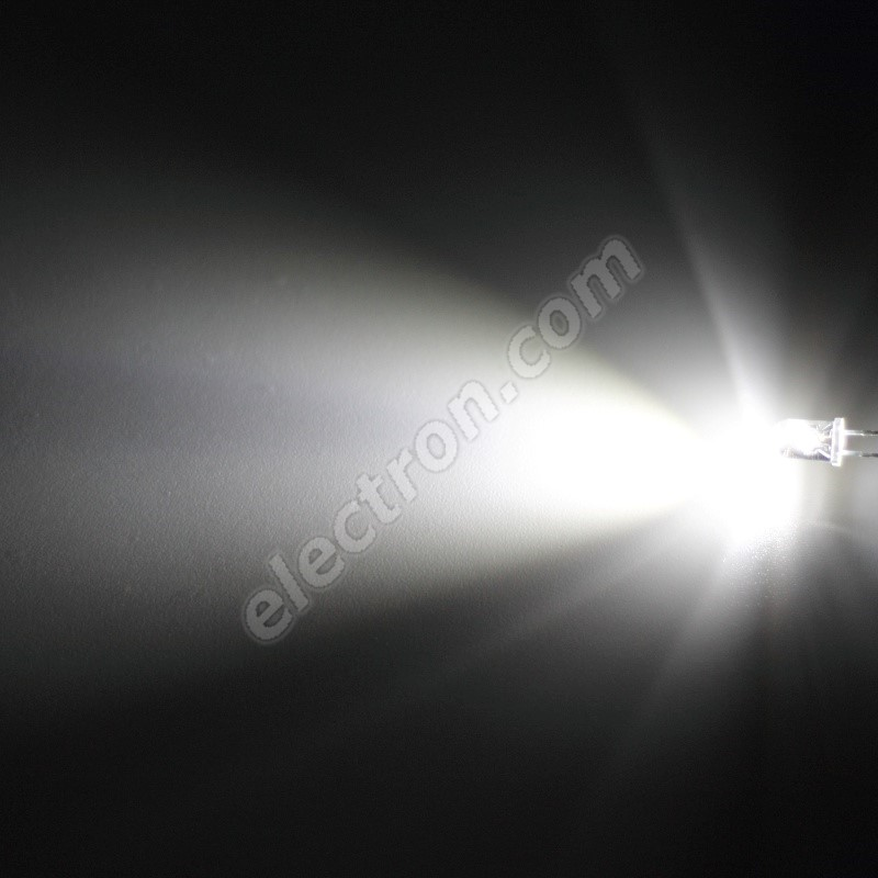 LED 5mm Cool White Color 15000mcd/17° Water Clear Lens Hebei 515XW8C