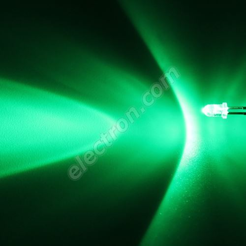 LED 3mm Green Color 12000mcd/30° Water Clear Lens Hebei 330PG2C