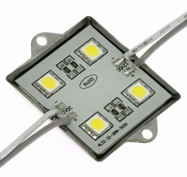 LED module 4xLED 0.96W Cool White, 72lm/120° - 36x36mm Hebei LM-5050W6-4P-12V