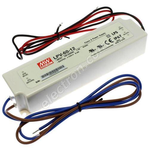 12V DC Power Supply Mean Well LPV-60-12
