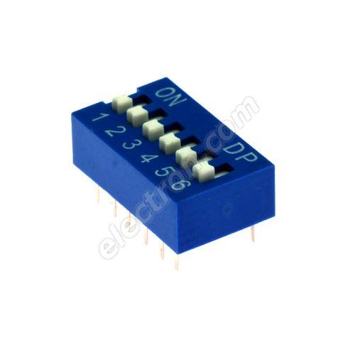 DIP switch Kaifeng KF1001-06PG-BLUE