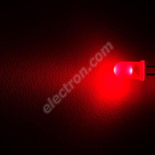 LED 5mm Red Color 140mcd/25° Diffused Lens Wenrun LUE50330