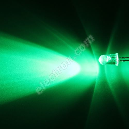 LED 5mm Green Color 16000mcd/30° Water Clear Lens Hebei 530PG2C