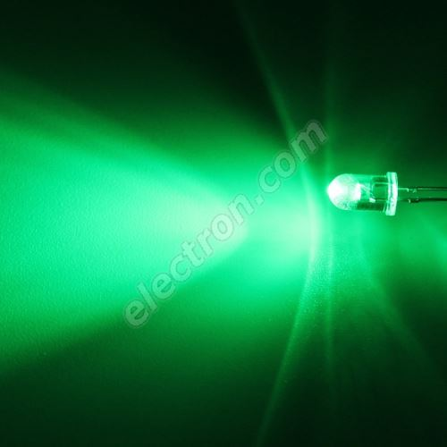 LED 5mm Green Color 2000mcd/65° Water Clear Lens Hebei 560VG2C