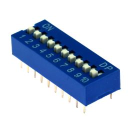 DIP switch Kaifeng KF1001-10PG-BLUE