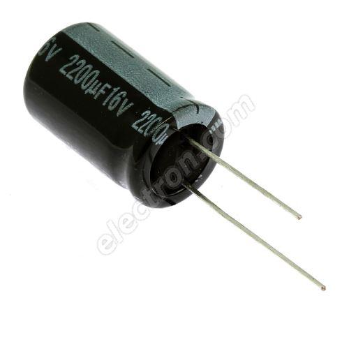 Electrolytic Radial E 2200uF/16V 12.5x20 RM5 85°C Jamicon SKR222M1CJ21M