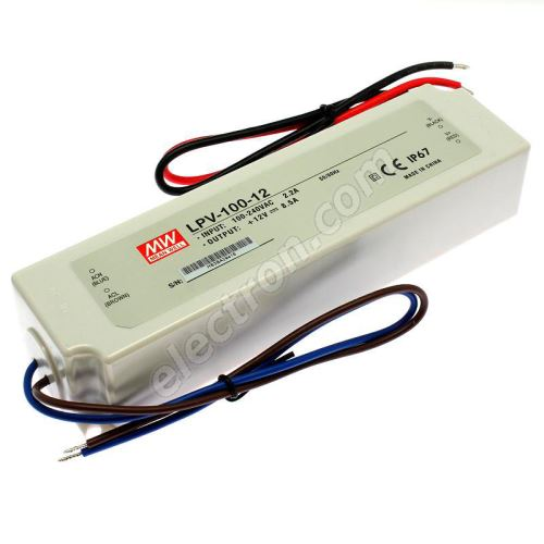 12V DC Power Supply Mean Well LPV-100-12