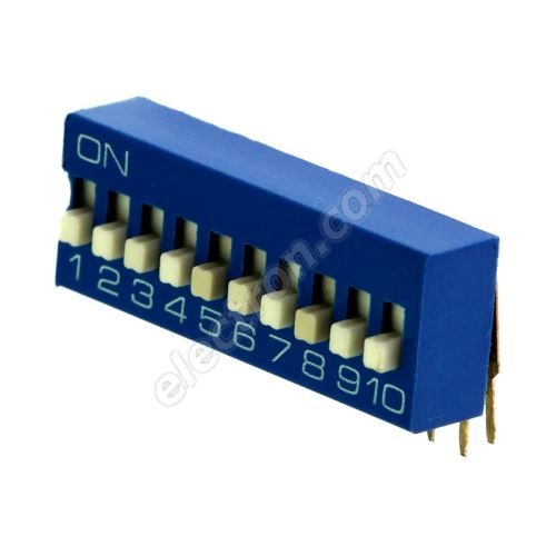 DIP switch Kaifeng KF1003-10PG-BLUE