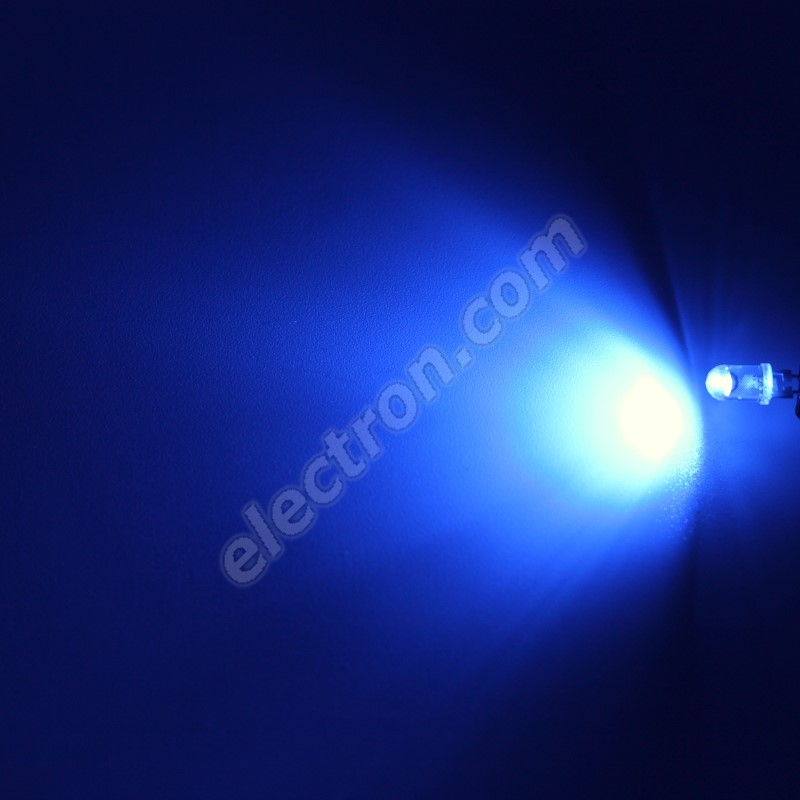 LED 5mm 0.5W Blue Color 5000mcd/90° Water Clear Lens Hebei 05W580BBC