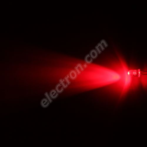 LED 5mm Red Color 8000mcd/23° Water Clear Lens Hebei 520PR2C