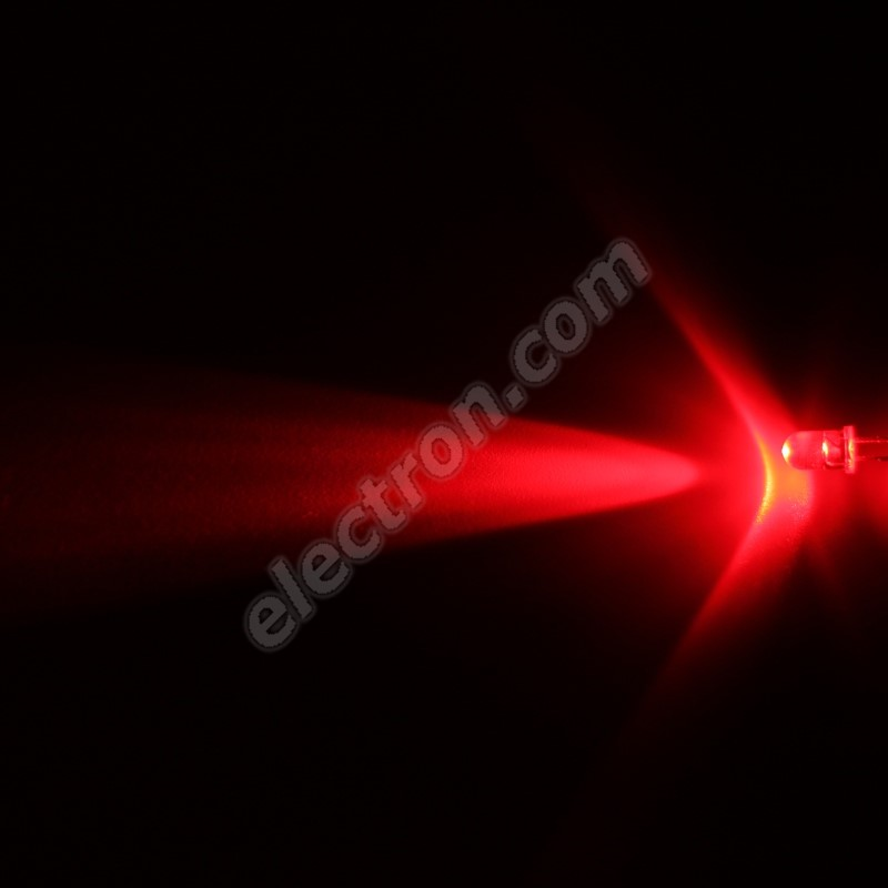 LED 5mm Red Color 12000mcd/13° Water Clear Lens Hebei 510PR2C