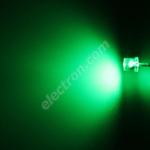 LED 5mm Green Color 800mcd/100° Water Clear Lens Hebei 599VG2C