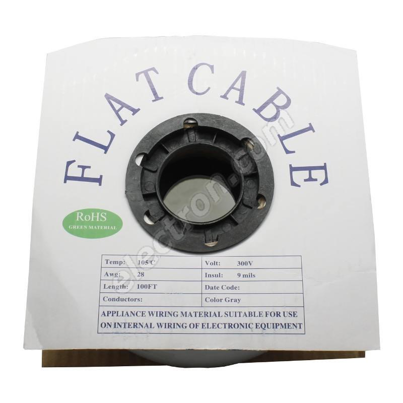 Flat ribbon cable AWG28 60 pin Grey Color