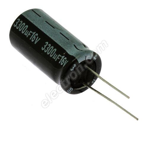 Electrolytic Radial E 3300uF/16V 13x26 RM5 85°C Jamicon SKR332M1CJ26M