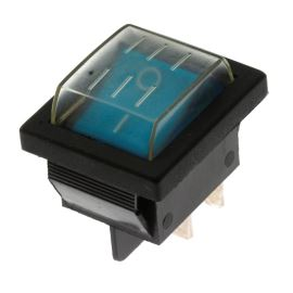 Rocker Switch Jietong RS-201-1C3-BL/B +WPC-08