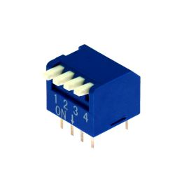 DIP switch Kaifeng KF1002-04PG-BLUE