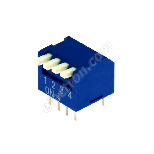 DIP switch Kaifeng KF1002-04PG-BLUE