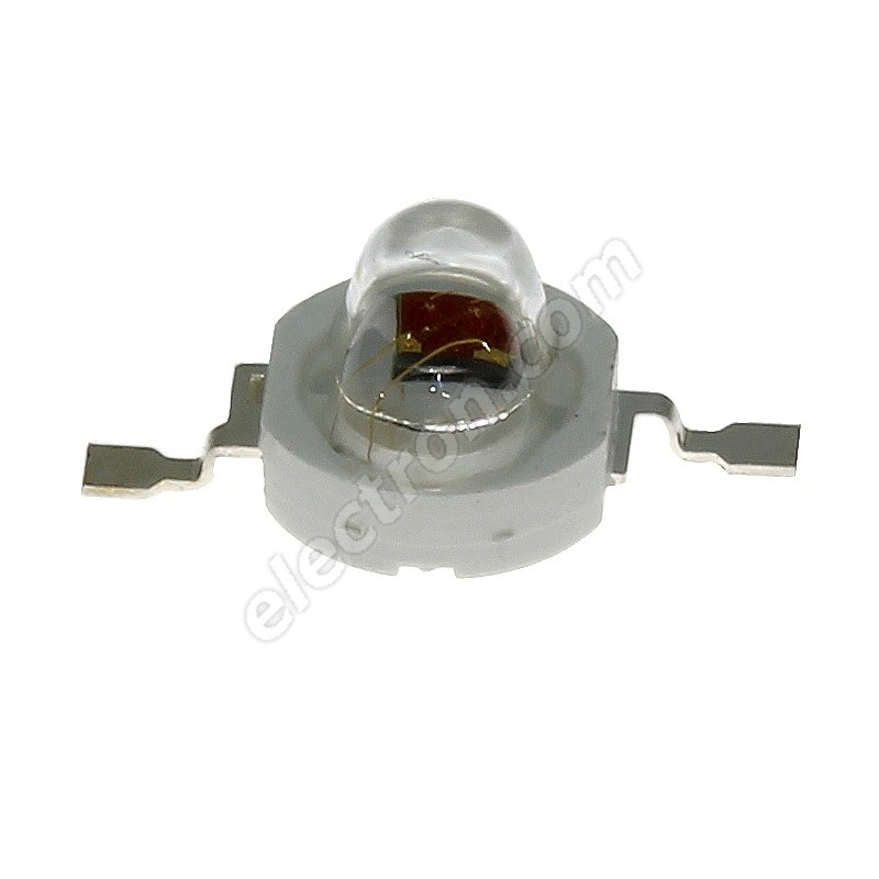 LED 1W Oval Lens Warm White Color 70lm/(160/100°) Hebei E12PW3C-O