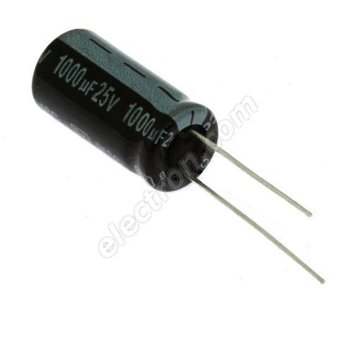Electrolytic Radial E 1000uF/25V 10x20 RM5 85°C Jamicon SKR102M1EG21M
