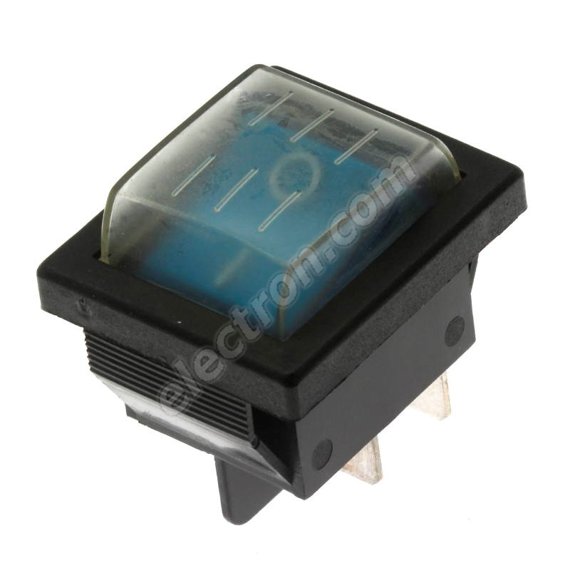 Rocker Switch Jietong IRS-201-1C3D-BL/B +WPC-08