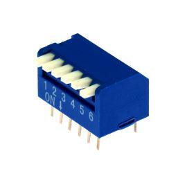 DIP switch Kaifeng KF1002-06PG-BLUE