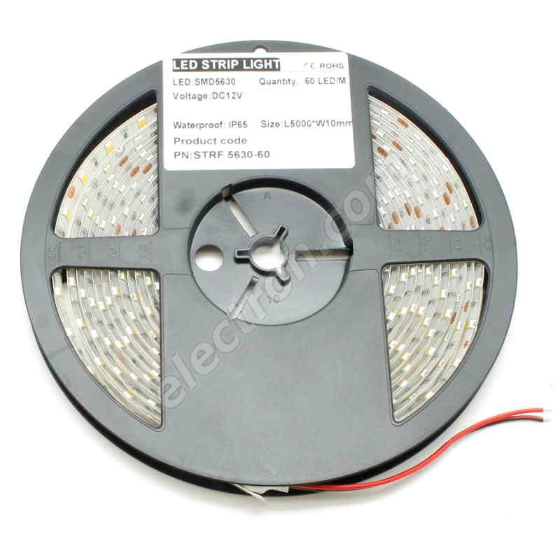 Waterproof LED Strip 5630 Cool White - STRF 5630-60-CW-IP65 - 1 meter length