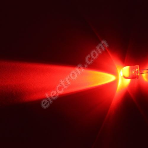 LED 10mm Red Color 5860mcd/23° Water Clear Lens Hebei 1025MR2C