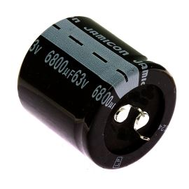 Electrolytic Capacitor Snap-in E 6800uF/63V 35x35 RM10 85°C Jamicon LPW682M1JQ35M