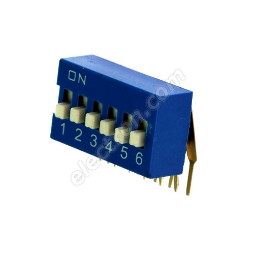 DIP switch Kaifeng KF1003-06PG-BLUE