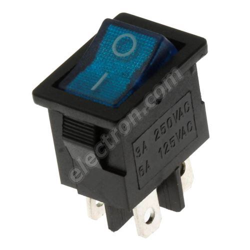 Rocker Switch Jietong MIRS-101-C3-BL/B