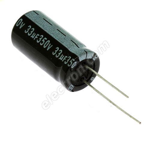 Electrolytic Radial E 33uF/350V 13x26 RM5 85°C Jamicon SKR330M2VJ26M
