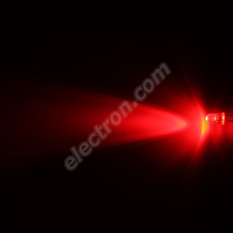 LED 5mm Red Color 2000mcd/40° Water Clear Lens Hebei 540MR2C