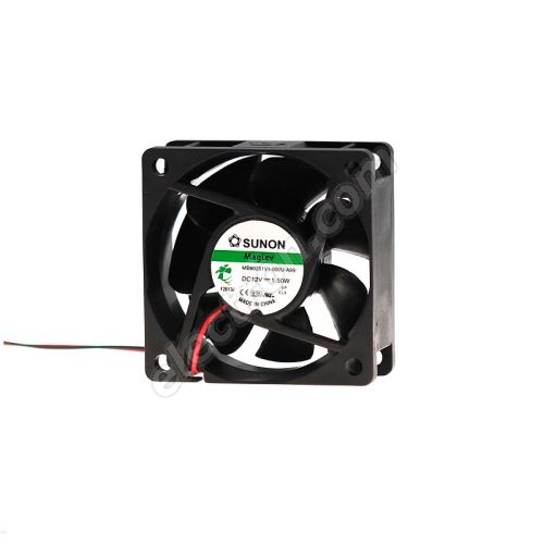 DC Fan 60x60x25mm 12V DC/145mA 23.5dB SUNON MB60251V1-000U-A99