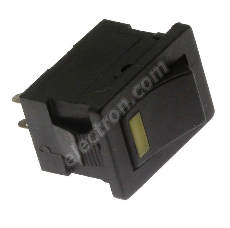 Rocker Switch Jietong MIRS-101-3+LED YELLOW-B/B