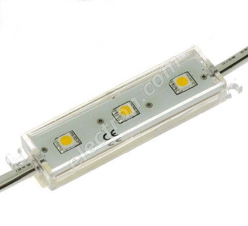 LED modul 3xLED 0.72W Coole White, 45lm/120° - 70x20mm Hebei LM-5050W6-3P-12V