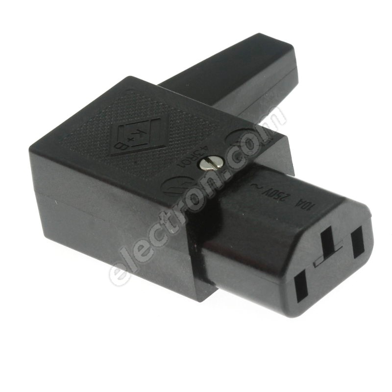 IEC Female Power Connector Angled MPE Garry GST3