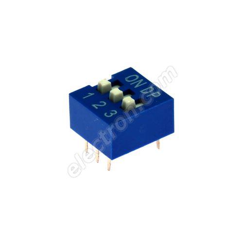 DIP switch Kaifeng KF1001-03PG-BLUE