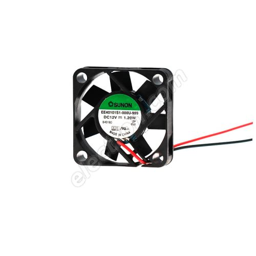 DC Fan 40x40x10mm 12V DC/100mA 32dB SUNON EE40101S1-000U-999