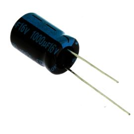 Electrolytic Radial E 1000uF/16V 10x16 RM5 105°C Jamicon TKR102M1CG16M