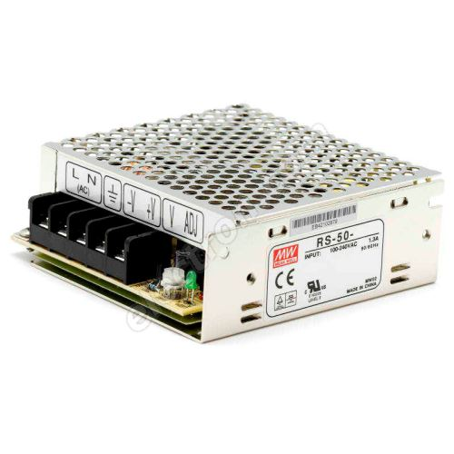 24V DC Switching Power Supply Mean Well RS-50-24