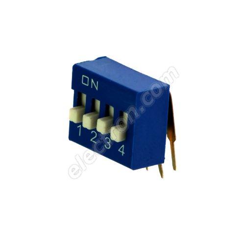 DIP switch Kaifeng KF1003-04PG-BLUE