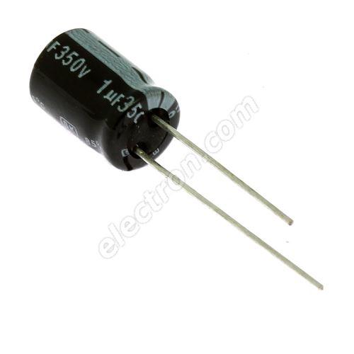 Electrolytic Radial E 1uF/350V 8x11.5 RM3.5 85°C Jamicon SKR010M2VFBBM