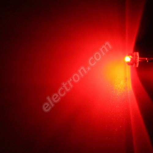 LED 4.8mm Red Color 280mcd/170° Water Clear Lens Hebei 412HR3C