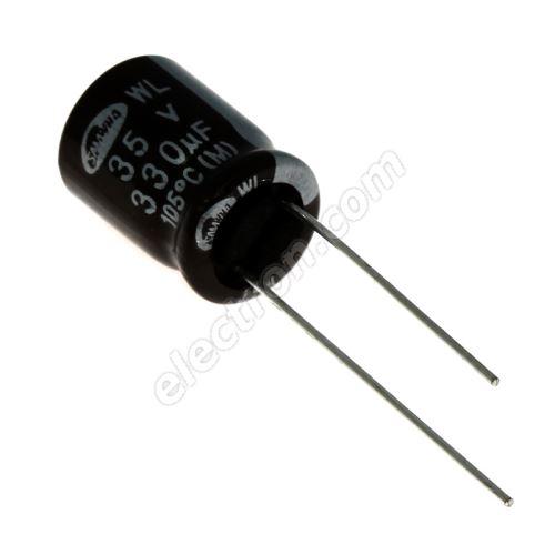 Electrolytic Radial E 330uF/35V 10x16 RM5 105°C low ESR Samwha WL1V337M10016BB