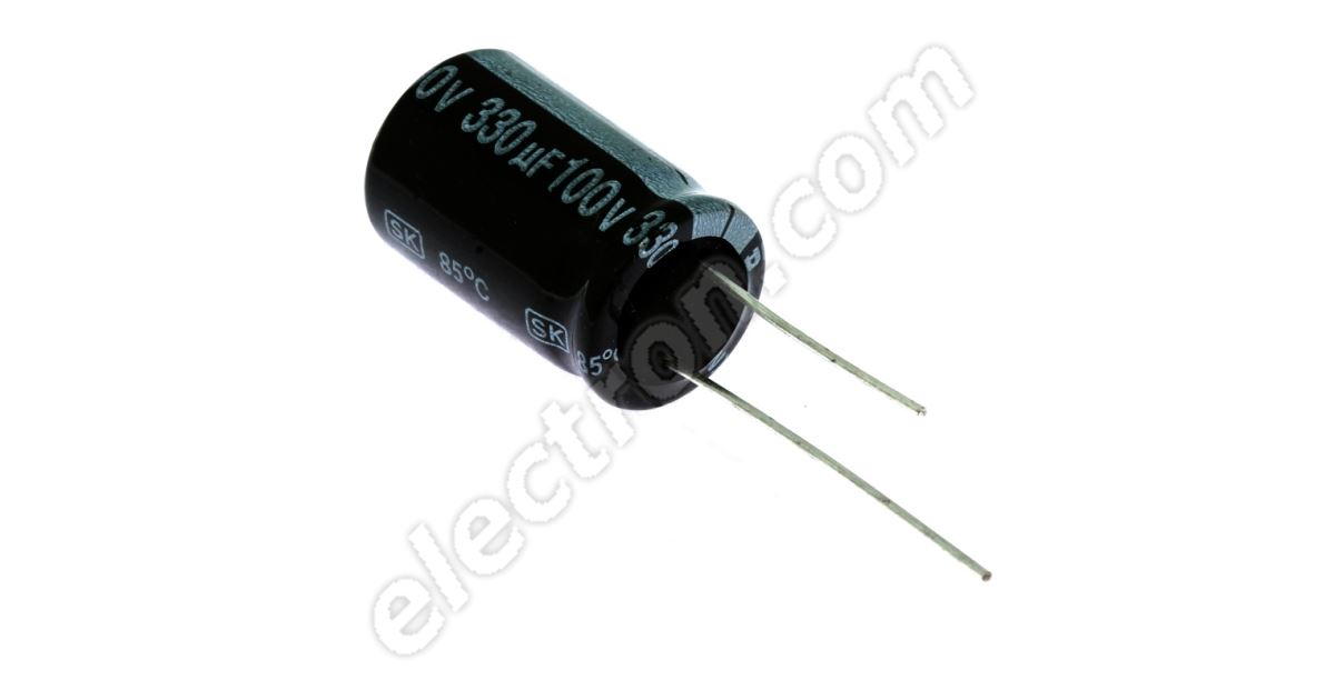330uf 16 volt  Radial Capacitor electrolytic 330 v 85°c 9