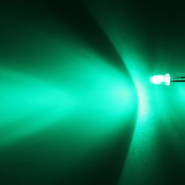 LED 3mm Green Color 8000mcd/30° Water Clear Lens Hebei 330PG0C