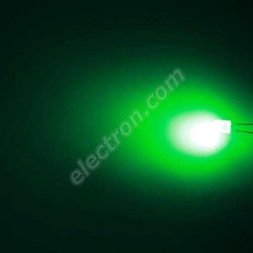 LED oval 5.2x3.8mm Green Color 2100mcd/(70/40°) Transparent Lens Hebei 774PG2T-S