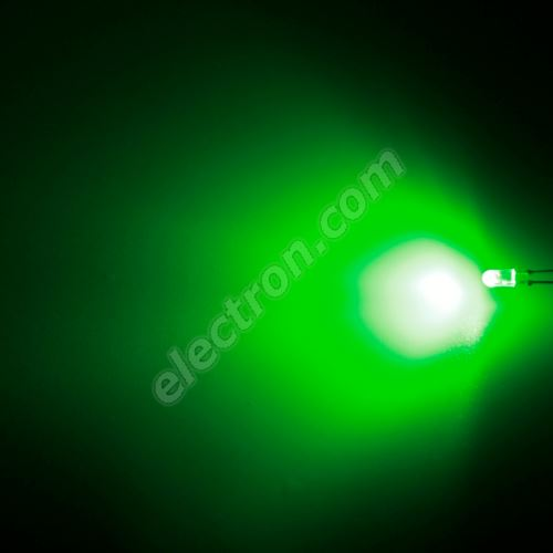 LED oval 3.9x3.1mm Green Color 3000mcd/(110/50°) Diffused Lens Hebei 3751PG2D-SB